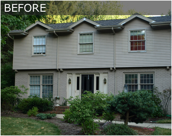 Painting Over Brick Exterior Before And After Home Decor